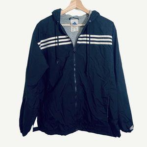 ADIDAS vintage style logo windbreaker large jacket